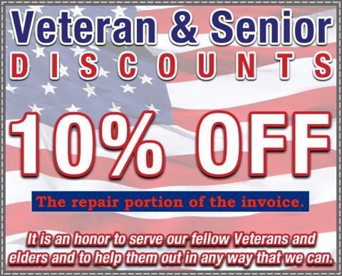 Veterans Senior Discount Coupon